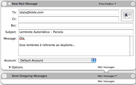 Automator - Criar e Enviar Email