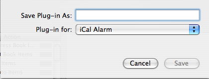 Save as iCal Plugin